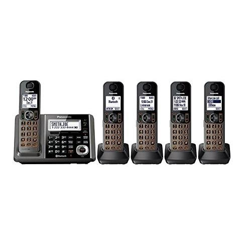 - Panasonic KX-TG585SK DECT, 5-Handset Landline Telephone (Renewed)