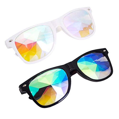 Careonline Festivals Kaleidoscope Glasses Rainbow Prism, used for sale  Delivered anywhere in USA