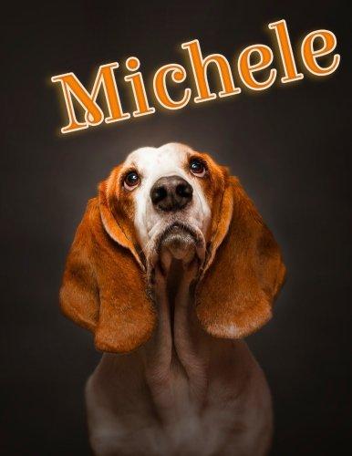 Michele: Personalized Address Book, Large Print, 8 1/2