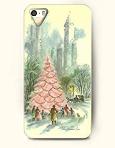 OOFIT iPhone 5 5s Case - Merry Xmas Pink Christmas Tree - Christmas Eve