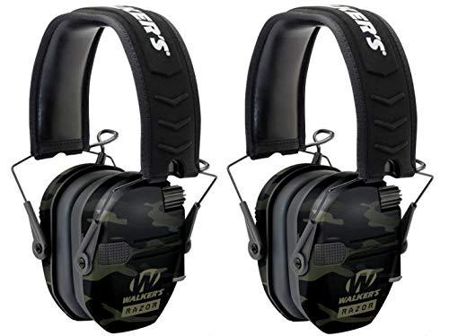Walkers GWPRSEMMCCG Razor Slim Electronic Earmuff 23 dB Multicam Black - 2 Pack by Walker's Game Ear