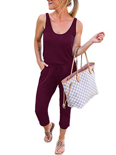 ANRABESS Sexy Sleeveless Tank Top Jumpsuit Scoop Neck One Piece Outfit CWXjiuhong-L WFF03 ()