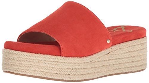 Sam Edelman Women's Weslee Slide Sandal, Candy red, 7 M US ()