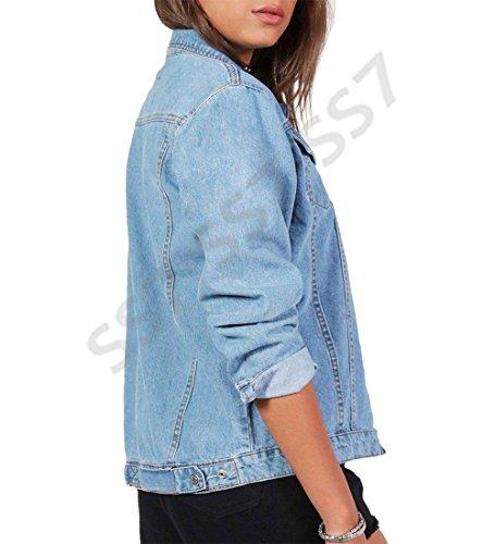 20 Jacket Women Jackets Size New Blue 26 18 Plus Ladies 16 24 22 Denim Blue SS7 Jean Denim RXqwvq