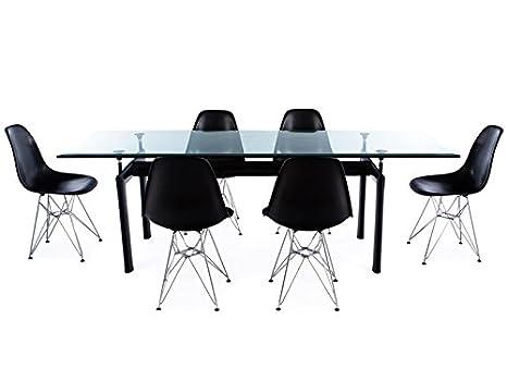 Le Corbusier-LC6 e 6 sedie: Amazon.it: Casa e cucina