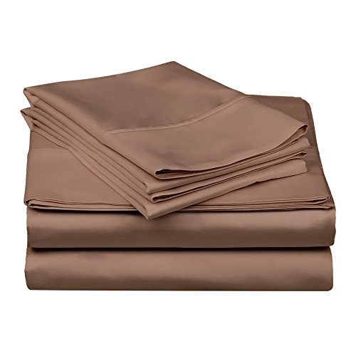 Superior 100% Premium Combed Cotton, 300 Thread Count 3-Piece Bed Sheet Set, Single Ply Cotton, Deep Pocket Fitted Sheets, Soft and Luxurious Bedding Sets - Twin XL, Taupe