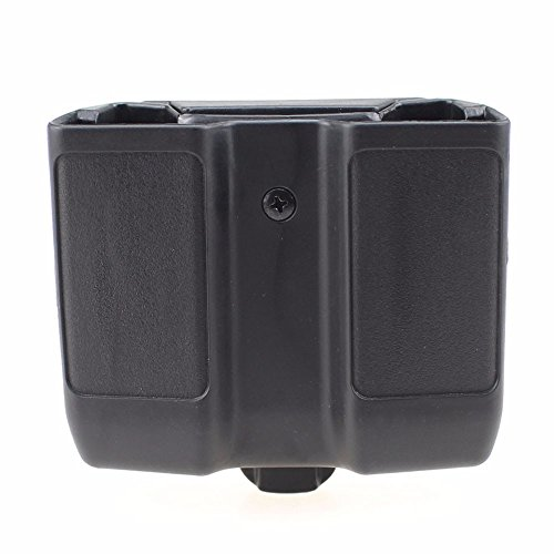 - LIVIQILY Quick Draw Double Magazine Mag Pouch Case Stack Pistol Cartridge Clip Holder Duty Belt Mag Box for Colt 1911 (Black)