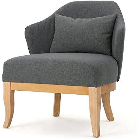 Lana Saddleback Fabric Club Chair With Throw Pillow
