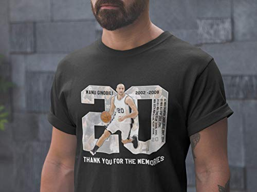 Thank You For The Memories Manu-Basketball-20 Jersey Champion Big-Gift-Fan Customized Handmade T-Shirt Hoodie/Long Sleeve/Tank ()