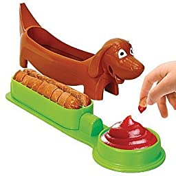 Dachshund Shaped Hot Dog Cutter: Kids Food Slicing Device