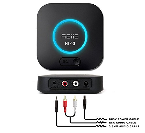 REiiE Audio Bluetooth Adapter Receiver with 3D Surround AptX Low Latency, V4.2 Wireless Audio Adapter for Home and Car Music Stereo Streaming(Pair 2 At Once) by REIIE (Image #5)