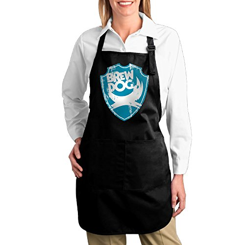 Brewdog Beer Bib Apron With Pockets   Kitchen And Cooking Apron  Durable Stripe For Cooking  Grill And Baking Black