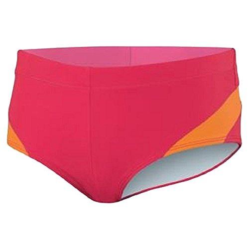 Nike Women's SWIM Perfect Splicing Boyshort Bikini Bottom (Pink/Orange, XLarge)