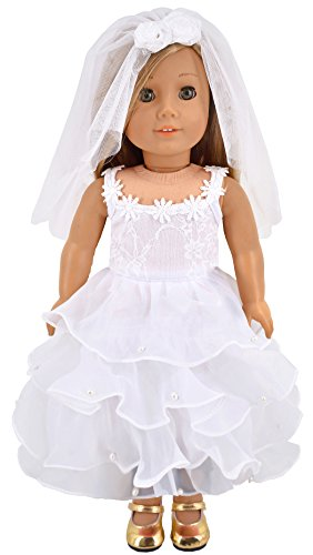 Derss with Mesh Veil Doll Clothes For 18 inch American Girl ()