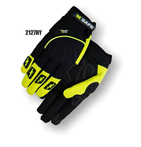 (12 Pair) Majestic X20 SYNTHETIC PALM GLOVES WITH NEOPRENE BACK & VELCRO WRIST - XTRA LARGE(2127HY/11)