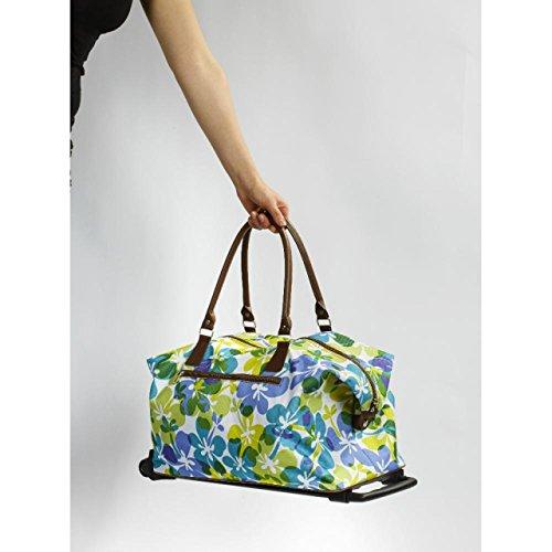 Trolley Reisetasche Wochenend Reise Kosmetik Tasche 2tlg. Einkaufs Trolly Stoff