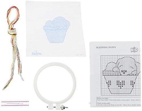 3 Janlynn 021-1817 Kid Sleeping Puppy Stamped Cross Stitch Kit