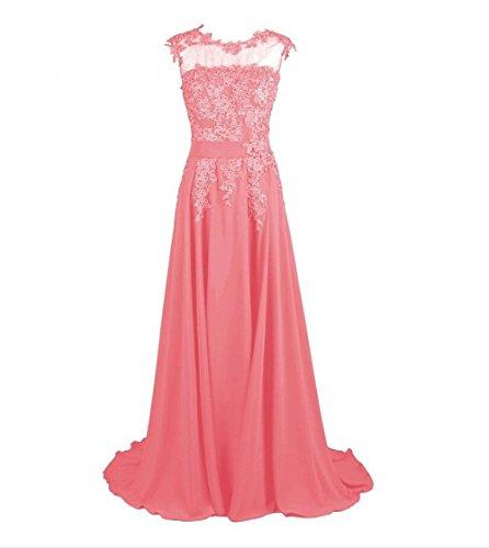 KA Beauty - Vestido - para niña Rosa - Korallenrot