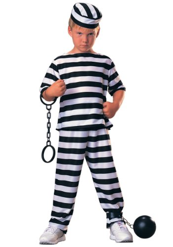 White House Halloween Costume (Haunted House Child Prisoner Costume, Large)