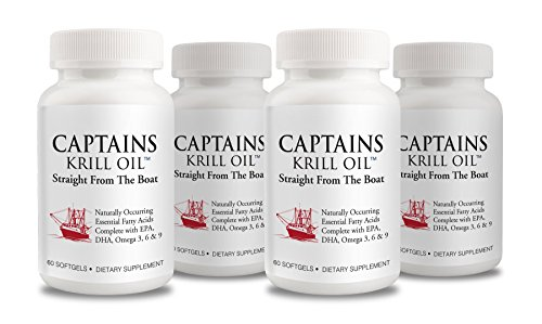 Captains Krill Oil: 100% Pure Flash Frigid Pressed Southern Antarctic Krill Oil (4) by Captains Krill Oil