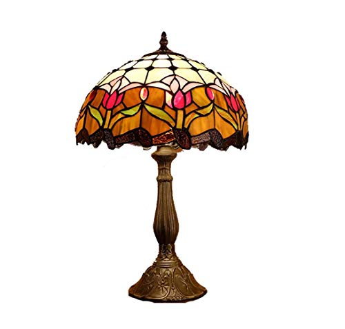 Lámpara de mesa estilo Tiffany 19 pulgadas de altura Flor de ...