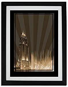 Address Hotel Down Town- Sepia No Text F06-nm (a2) - Framed