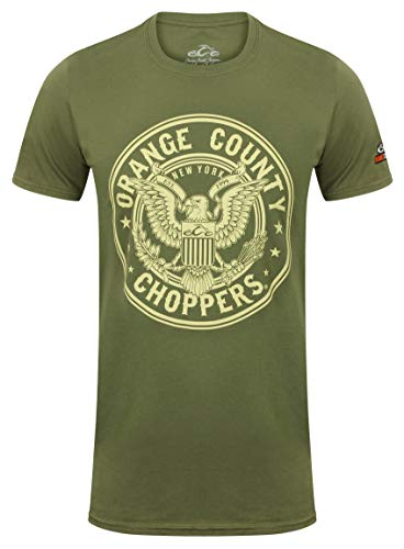 - Orange County Choppers Men T-Shirt Eagle, Size:S, Color:Military Green