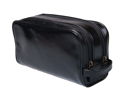 SAGEBROWN® Black Classic Wash Bag by Sage Brown