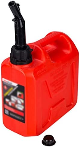 20L / 10L / 5L厚いプラスチック防爆ガソリンタンク、車やオートバイのポータブル予備燃料タンク、ディーゼルすることができます - 三色/ 3つの仕様 (Color : Red, Size : 5L)