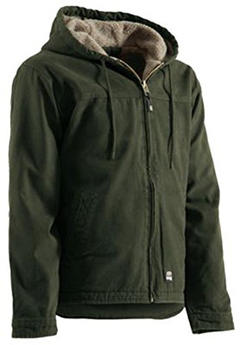 Berne Apparel HJ626MGNT480 Washed Hooded Work Coat - Extra ()