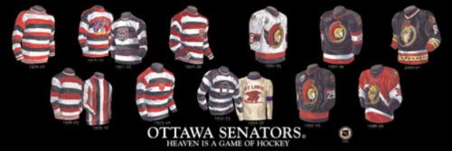 The Greatest-Scapes Personalized Framed Evolution History Ottawa Senators Uniforms Print with Your Photo