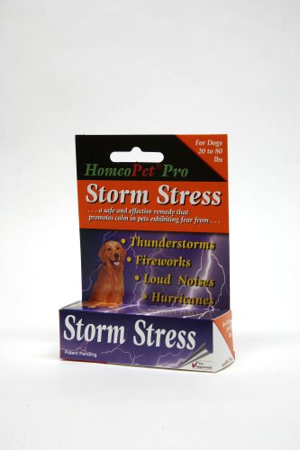 HomeoPet Pro Storm Stress for Dogs 20-80 lbs, 5 ml, My Pet Supplies