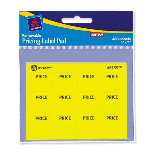 Avery Pricing Label Yellow 46135