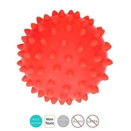 Made in Eu Spielzeug Erwachen f/ür Baby Sevira Kids Massage ohne Bpa Ball Sensory Blau 1 St/ück