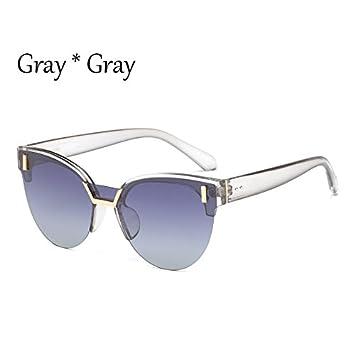TL-Sunglasses Medio Bastidor Cat Eye gafas polarizadas Mujer Multi señoras viaje Drive gafas de