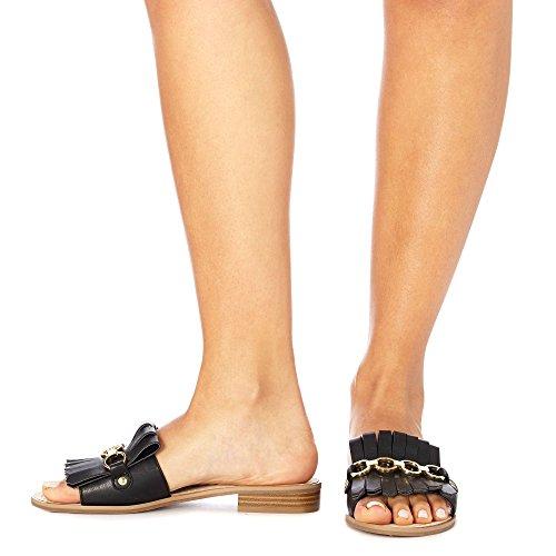 Debenhams Faith Womens Black 'Jingle' Slip-On Sandals mWRX4