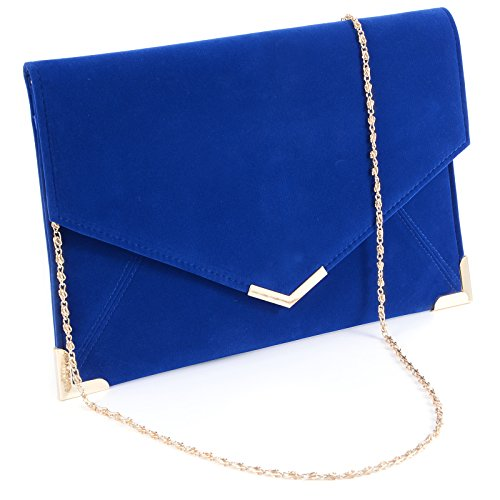 (Faux Leather Wedding Envelope Large Evening Clutch Bag Women Bag Shoulder Bag)