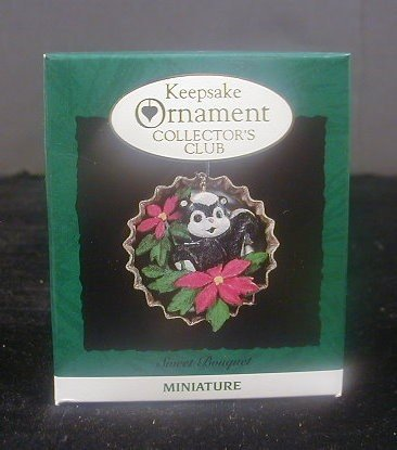 Hallmark Keepsake Ornament Collector's Club Sweet Bouquet Miniature Handcrafted