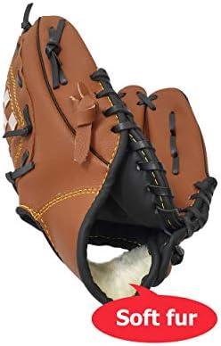 Fielding Glove Mit PU Leather 1 Glove 4 Baseballs Right Hand Throw Macro Giant Baseball Glove Set