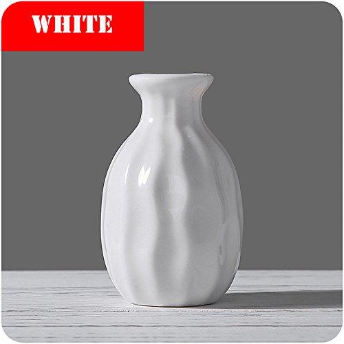 Kangsanli Ceramic Vase Tower Vase For Home Decoration Photo Prop Fashion Ceramic Bottle Green Plant Ceramic Flower Vases (white)