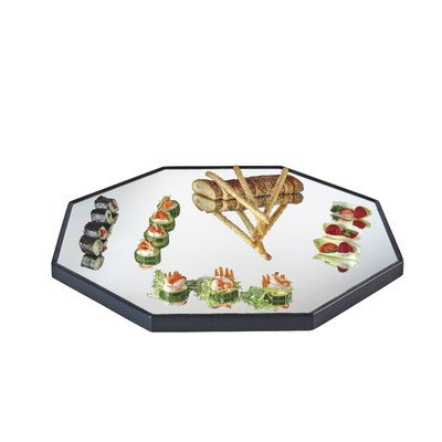Cal-Mil RR161 Octagon Mirror Tray with Black Trim, 16