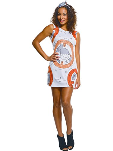 Rubie's Adult Star Wars VII: The Force Awakens BB-8 Rhinestone Tank Dress, Medium