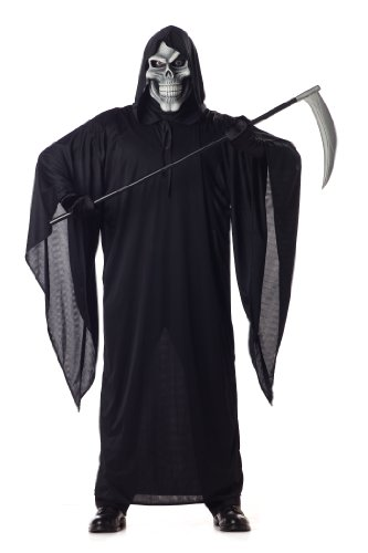 California Costumes Men's Grim Reaper Costume,Black,Large - Best Male Devil Costume