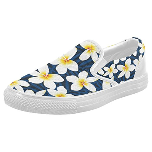 on sale InterestPrint Hawaiian Floral Casual Slip on Canvas