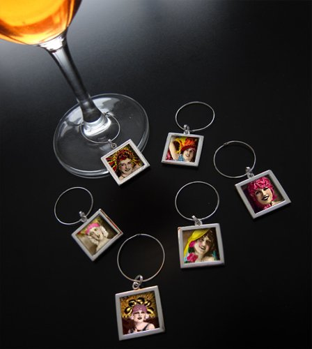 100 Pack Event Wedding Make Your Own Photo Wine Charm Tags Kit by Photojewelrymaking