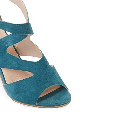 La Redoute Mademoiselle R Frau Sandaletten, Leder, Asymmetrischer Riemen Gre 40 Blau