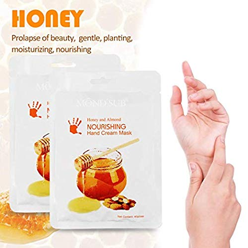 Wokaar Hand Peeling Mask Gloves for Dry Hands for Wrinkles, Hand Peeling Mask Hydrating Moisturizing Gloves Masks, Pack of 2