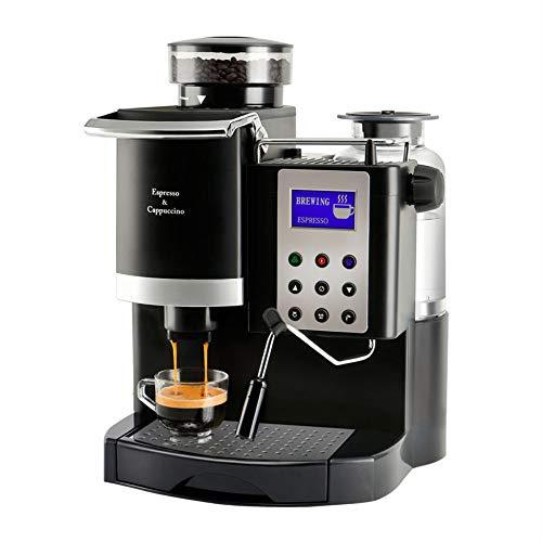 Houozon Cafetera Italiana Espresso Todo en uno, Molinillo y ...