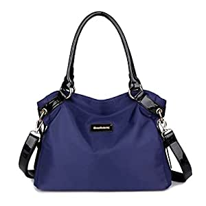 Eshow Bolsa de Mujer Bolsos de Bandolera de Hombro para Mujeres Bolsos Grande de Mano Bolsos Desigual de Viaje Shopper Marca Moda Azul