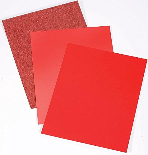 Crafter's Companion CP-LMIX-RED811 - Cartulina mixta de lujo, color rojo